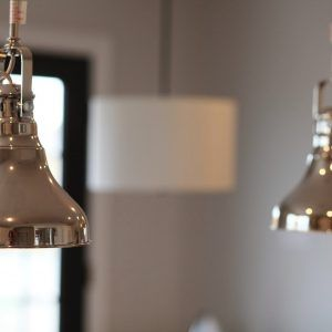 Brushed Stainless Steel Kitchen Lights