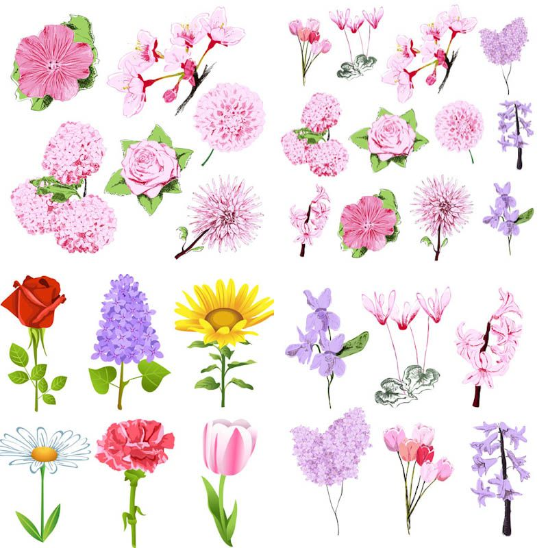 Spring flowers vector templates lminas pinterest spring spring flowers vector templates mightylinksfo Choice Image