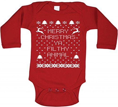 Little Adam And Eve Baby Merry Christmas Ya Filthy Animal Onesie 6 ...