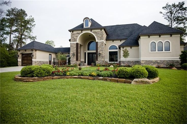 Image result for 2 story stucco exterior exterior for Stucco homes with stone accents