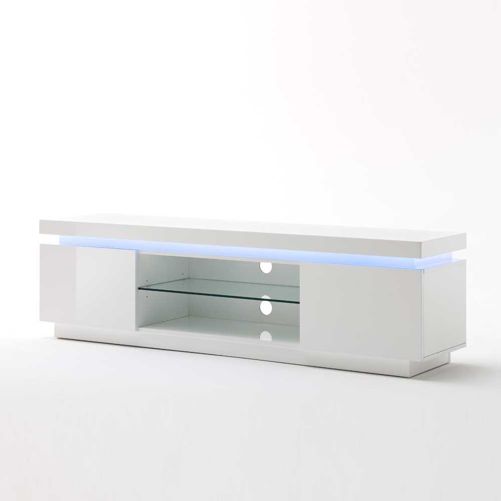 Lowboard mit LED Farbwechsel Weiß Hochglanz Jetzt bestellen unter ...