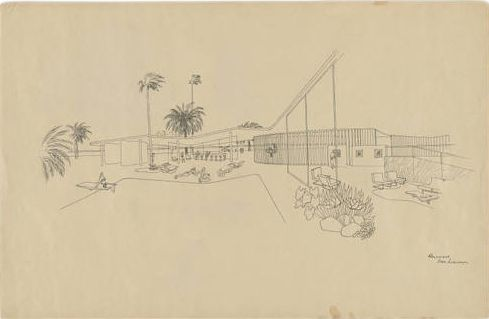 Oscar Niemeyer and Roberto Burle Marx design a beach house #architecture