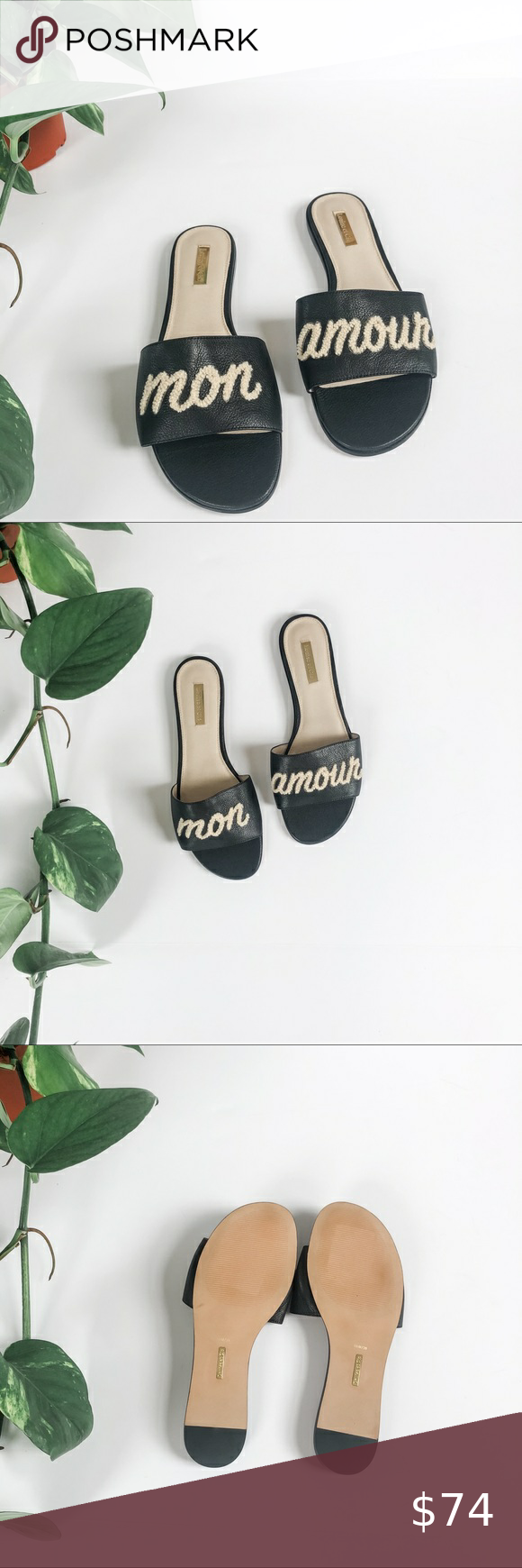 NWOB Louise et Cie Anneta Slide Sandal Super soft leather  Runs narrow  New without box   Leather Upper and lining  F032 Louise et Cie Shoes Sandals