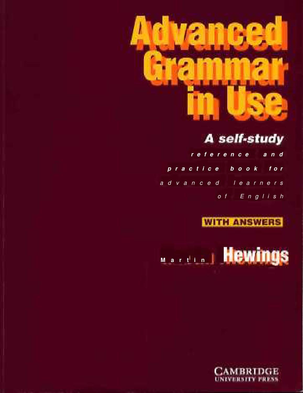 Advanced Grammar In Use Advanced Grammar English Grammar Book Pdf English Grammar