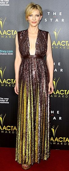 Cate Blanchett sparkles in a Givenchy gown at the AACTA Awards