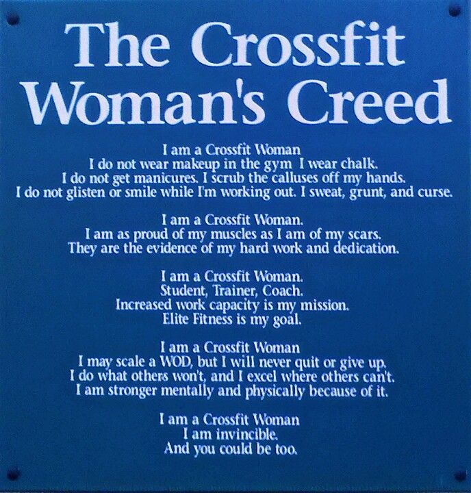 Women's Creed