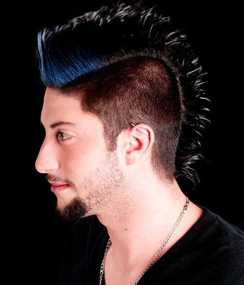 Dark Blue Hairstyle 09 Mohawk And Fauxhawk Hairstyles