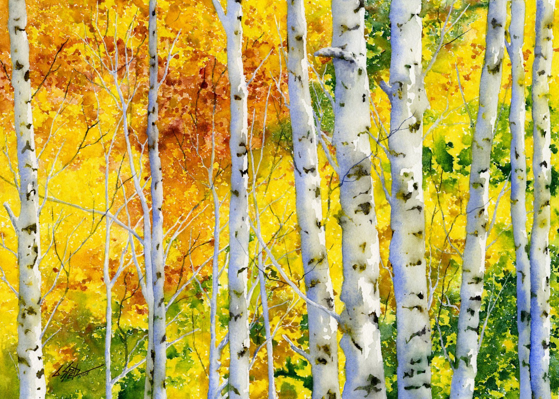 Learn To Paint Autumn Aspens (Watercolor) | Gary Spetz Watercolor ...