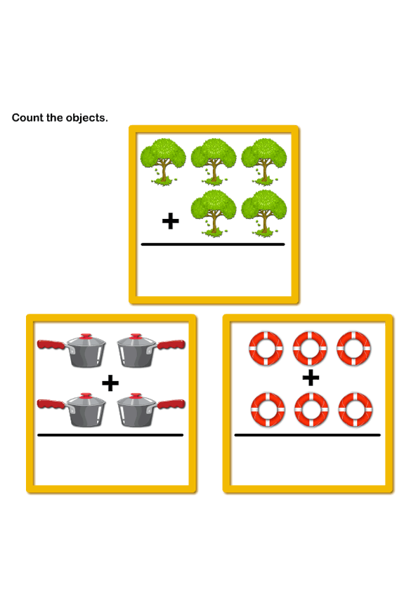 Picture Addition 5 | pre-k | Kids Learning Games and Worksheets ...