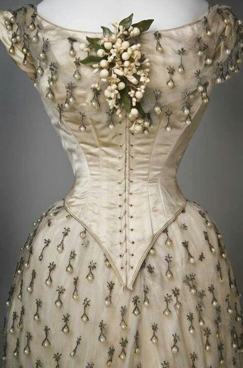 19th Century Wedding Dress 1887 From America