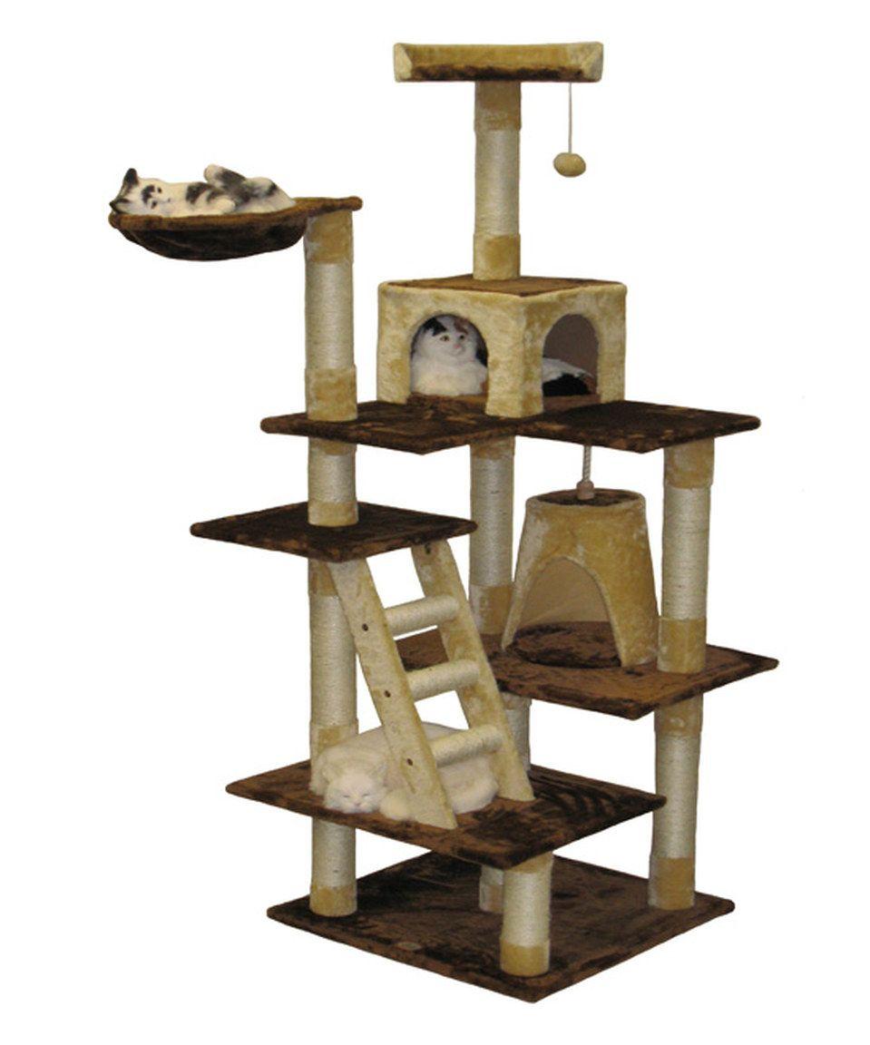 Look At This Zulilyfind Go Pet Club Brown Beige Cat House By Go Pet Club Zulilyfinds Pet Furniture Cat Furniture Cat House