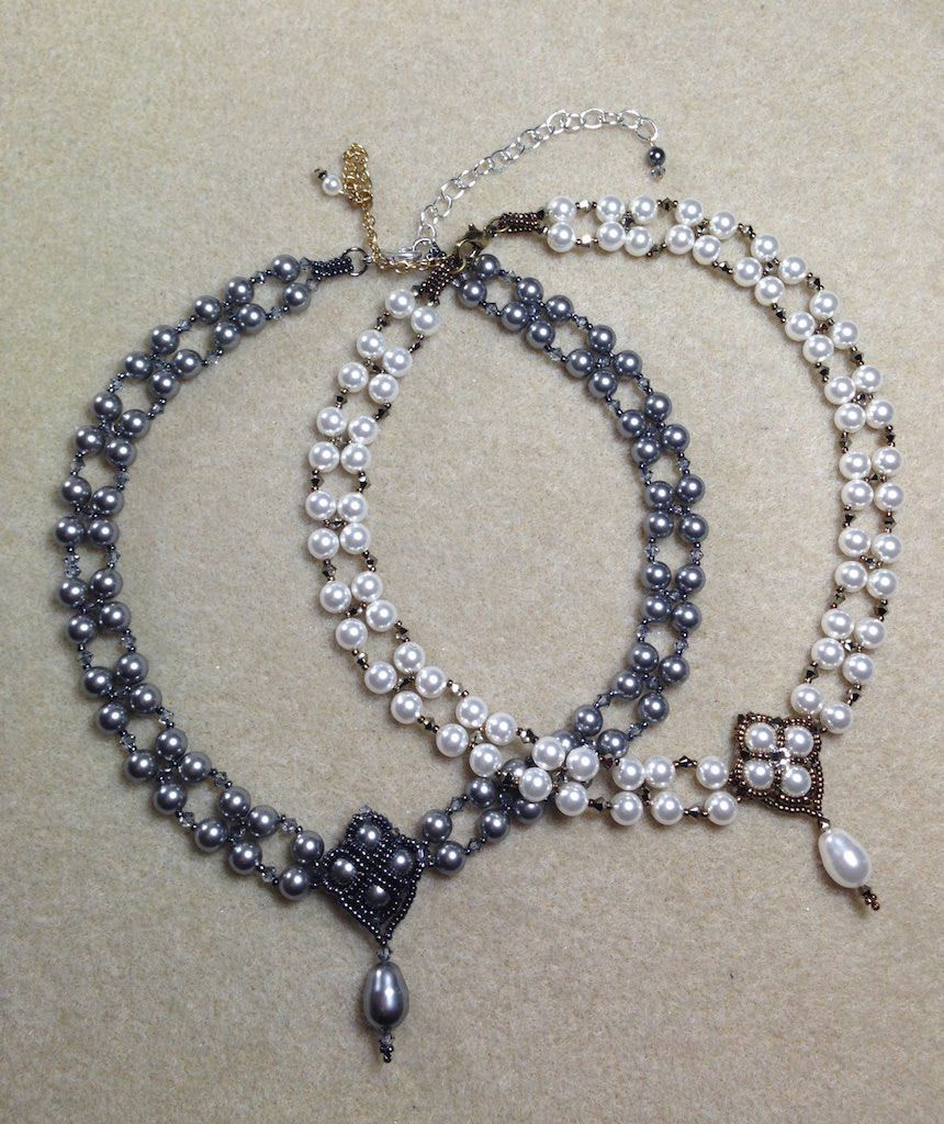Crazy For Pearls Bridal Choker/Pearl Necklace Set ~ Seed Bead ...