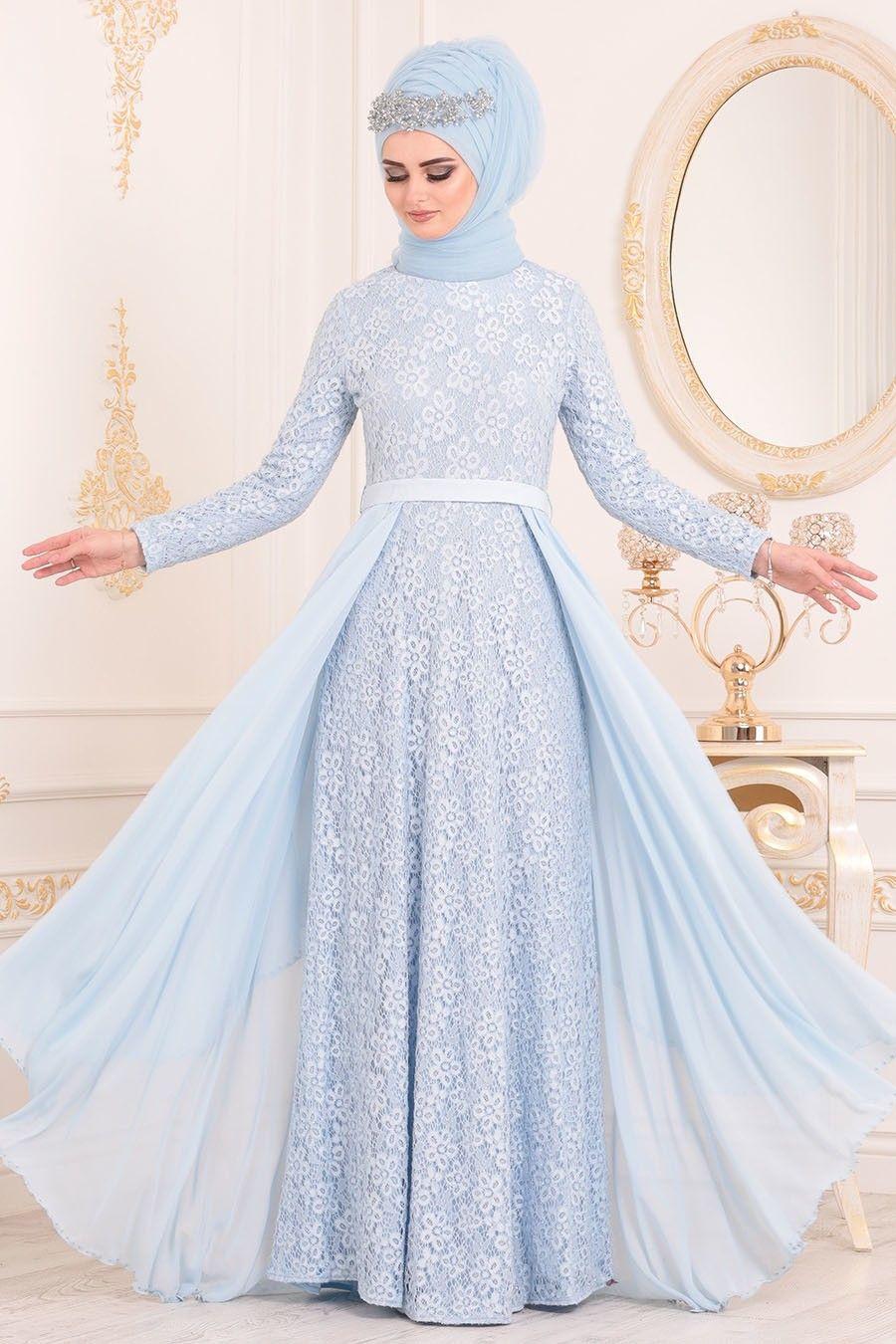 2018 2019 Yeni Sezon Ozel Tasarim Abiye Koleksiyonu Tesetturlu Abiye Elbise Pul Payet Detayli Pudra Tesettur Abiye Elbise 764 Elbiseler Elbise Islami Giyim