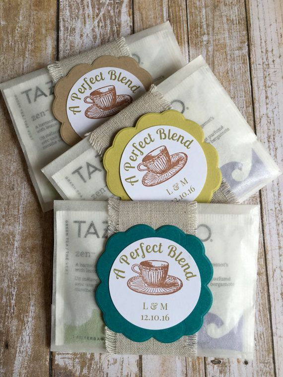 These Custom Tea Bag Favors Add Style And Color To Place Settings Or Displayed In Baskets On Trays Your Guests Will Love Sipping The Premium Tazo