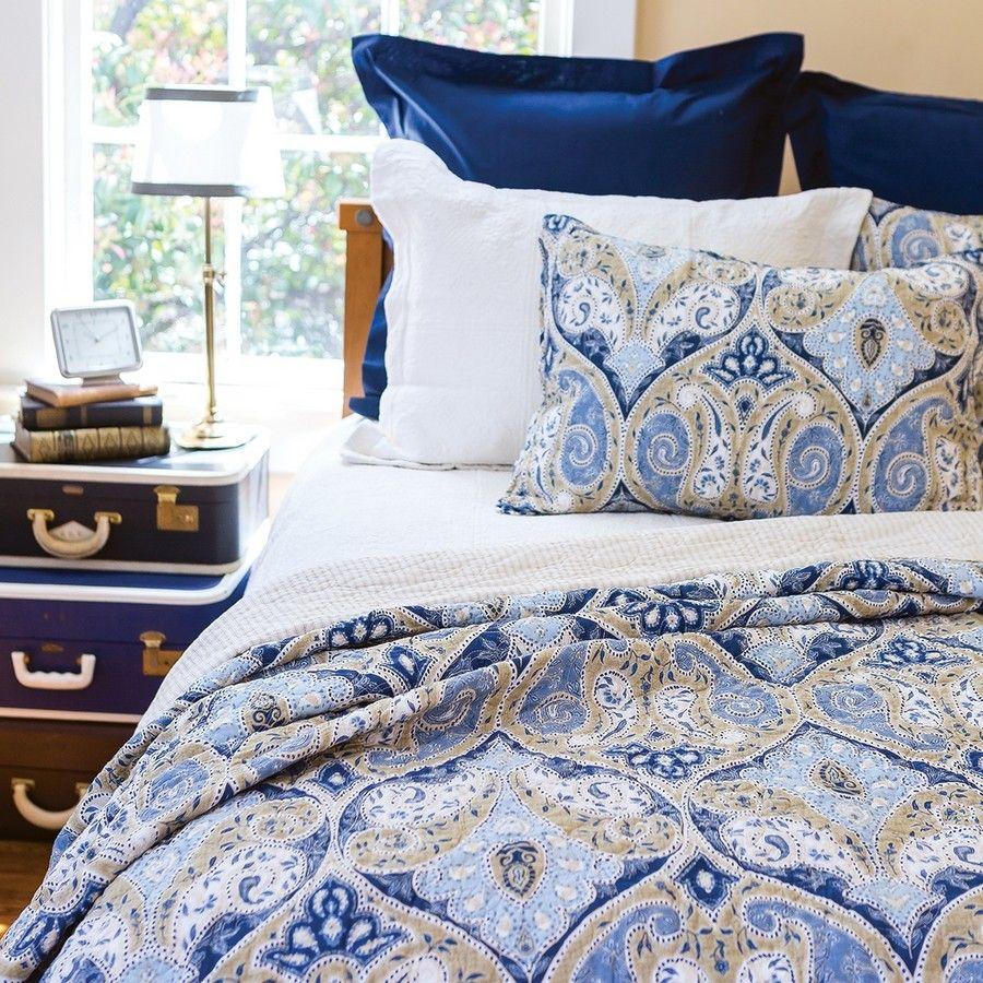 Nazima Full Queen Quilt 90 X 92 King Quilt Queen Quilt Blue Bedding