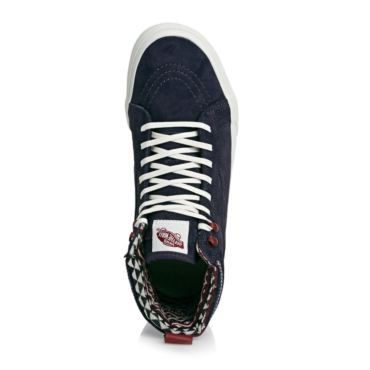 f9faa877ee Vans Sk8-hi Mte Shoes - (mte) Parisian Night blanc De Blanc ...