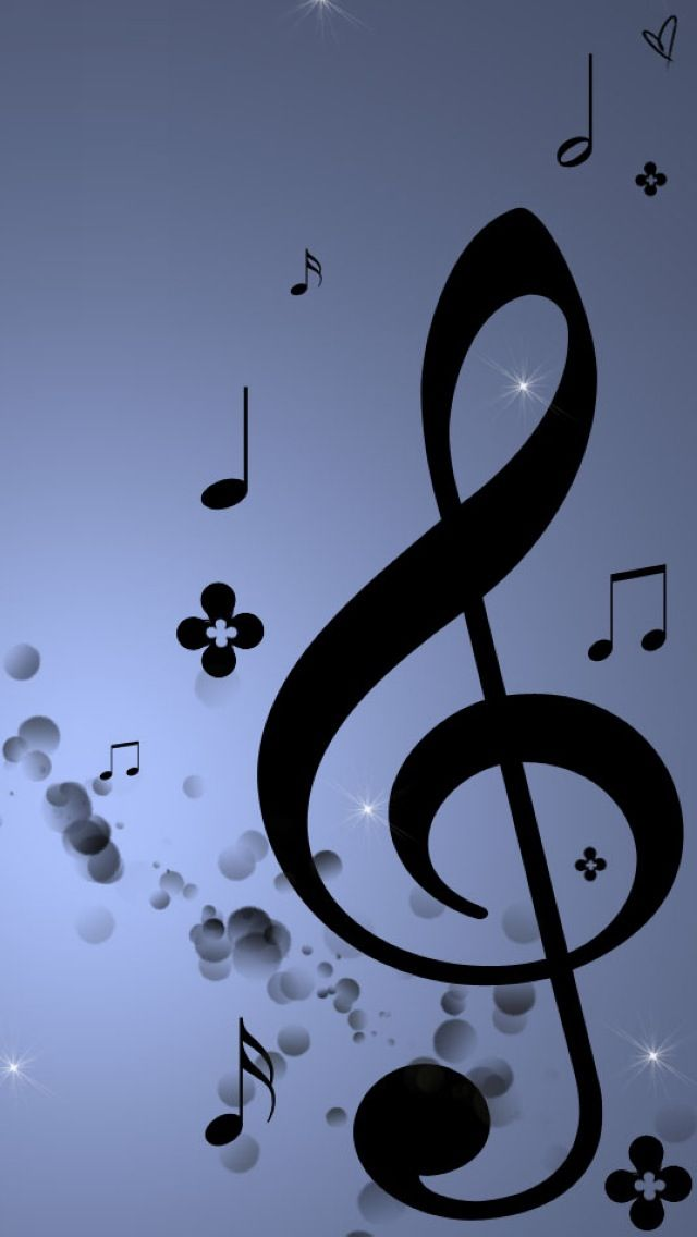 Deep Blue Purple Music Note Background