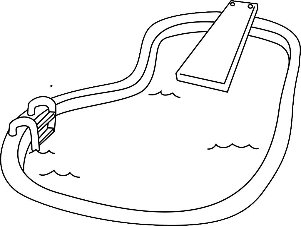 10 Coloring Page Swimming Pool Pool Drawing Swimming Pools Coloring Pages