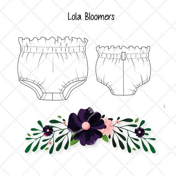 Baby Toddler Bloomers pattern, High Waisted Bloomer PDF, Bloomers ...