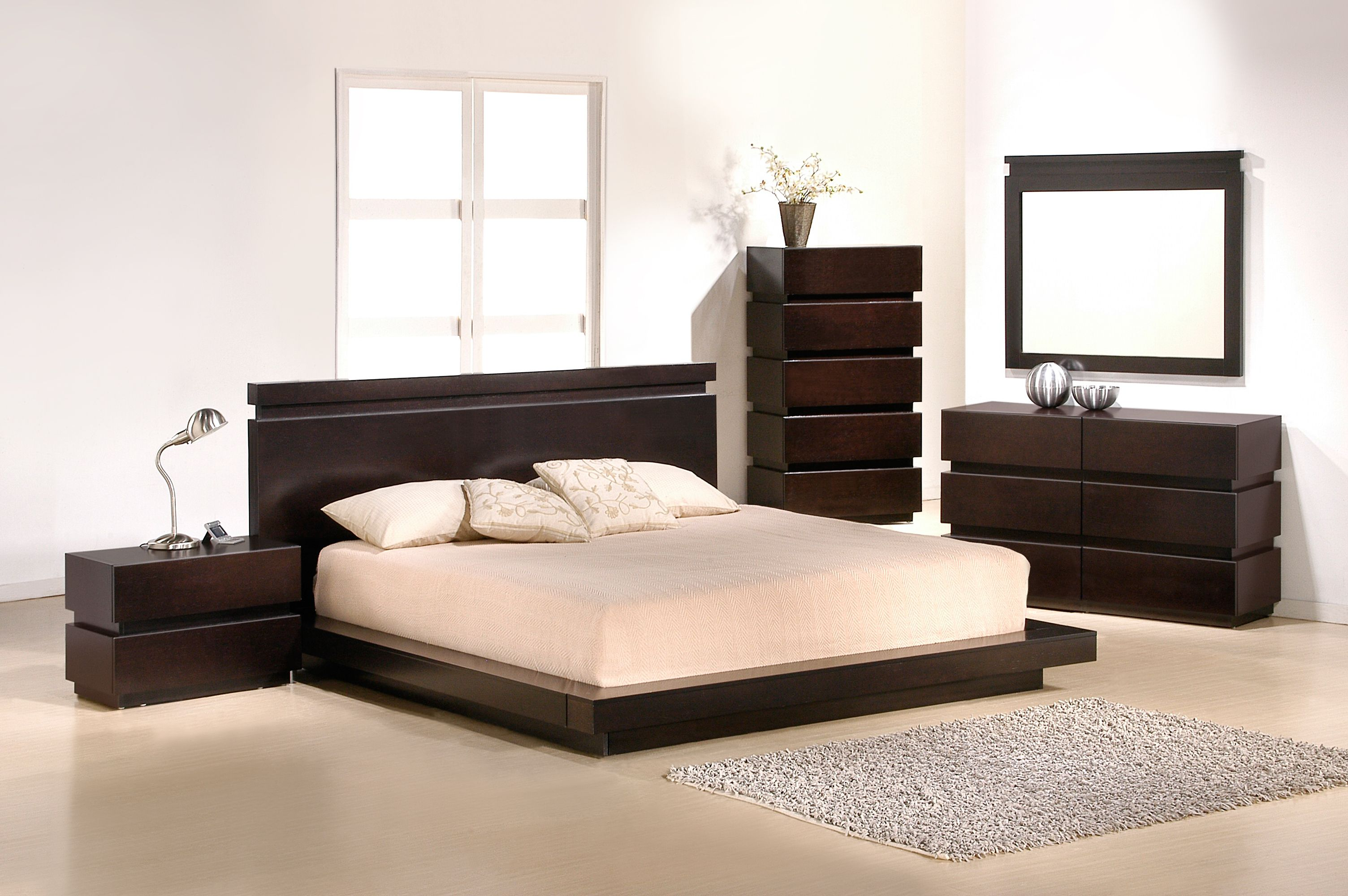 JNM KNOTCH Modern Low Platform Brown Finish Bedroom Set Knotch Bedroom  offers alluring designs and colors of the modern bedroom  Furniture  presented in. FurniPlanet com   Buy Knotch  Queen Size Bed  at Discount Price at