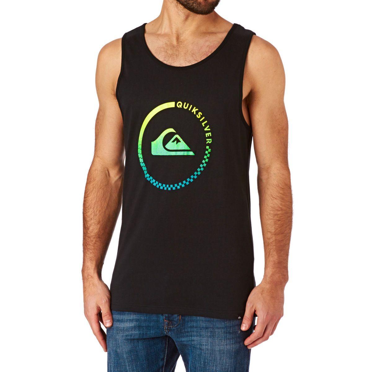 Quiksilver plain black t shirt - Quiksilver Classic Everyday Active Vest Black