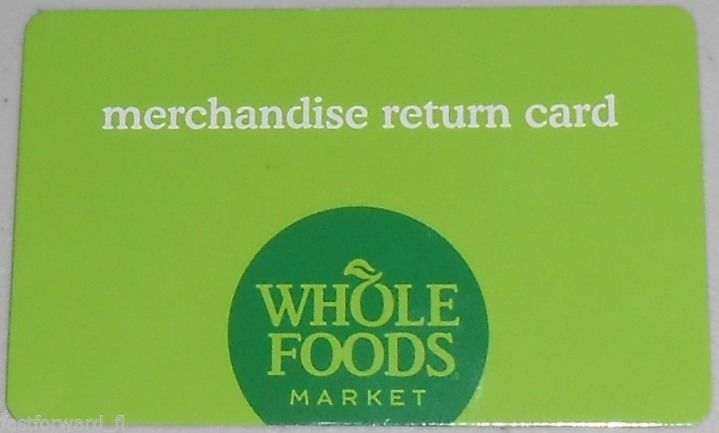 WHOLE FOODS Market Merchandise Gift Card / Store Credit $83.29 ...