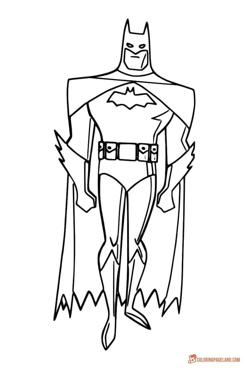 free printable coloring pages of batman | Top 10 Batman Printable Coloring Pages for Kids and Adults ...