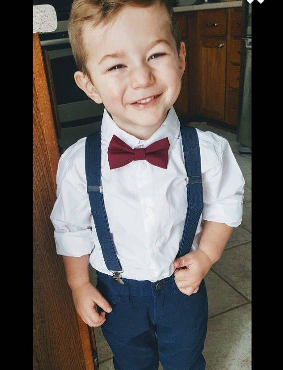 Suspender Braces for Men Black White Velvet Bow tie Youth Baby Boy