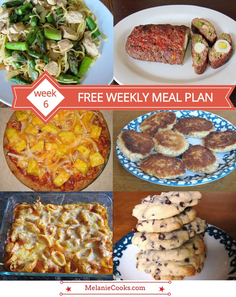 free weekly meal plan – family dinner menu ideas (week 6) | menu