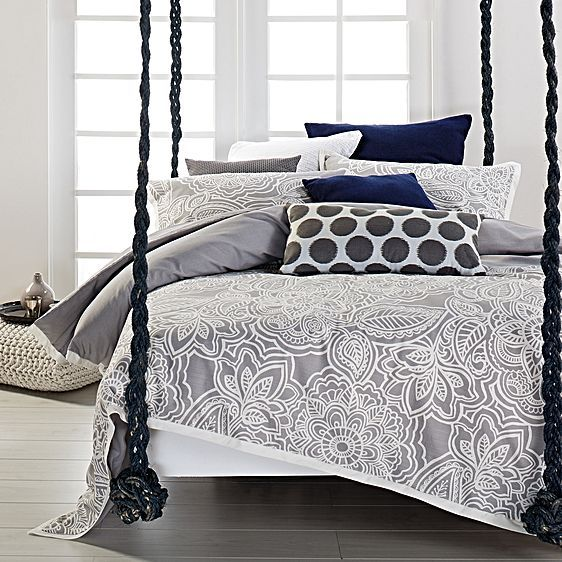 Mecca Quilt Cover Set, Grey by Designers Choice | Zanui