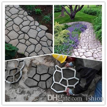 Furniture Accessories Diy Garden Concrete Paving Mold For Pavement Walkways For Garden Path Paving Mold Pathmate Shovel