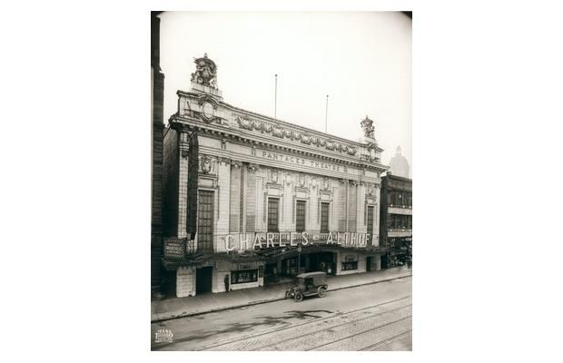 The exterior of the Pantages Theatre, 20 W. Hastings St., in 1917. Vancouver Public Library VPL 22215