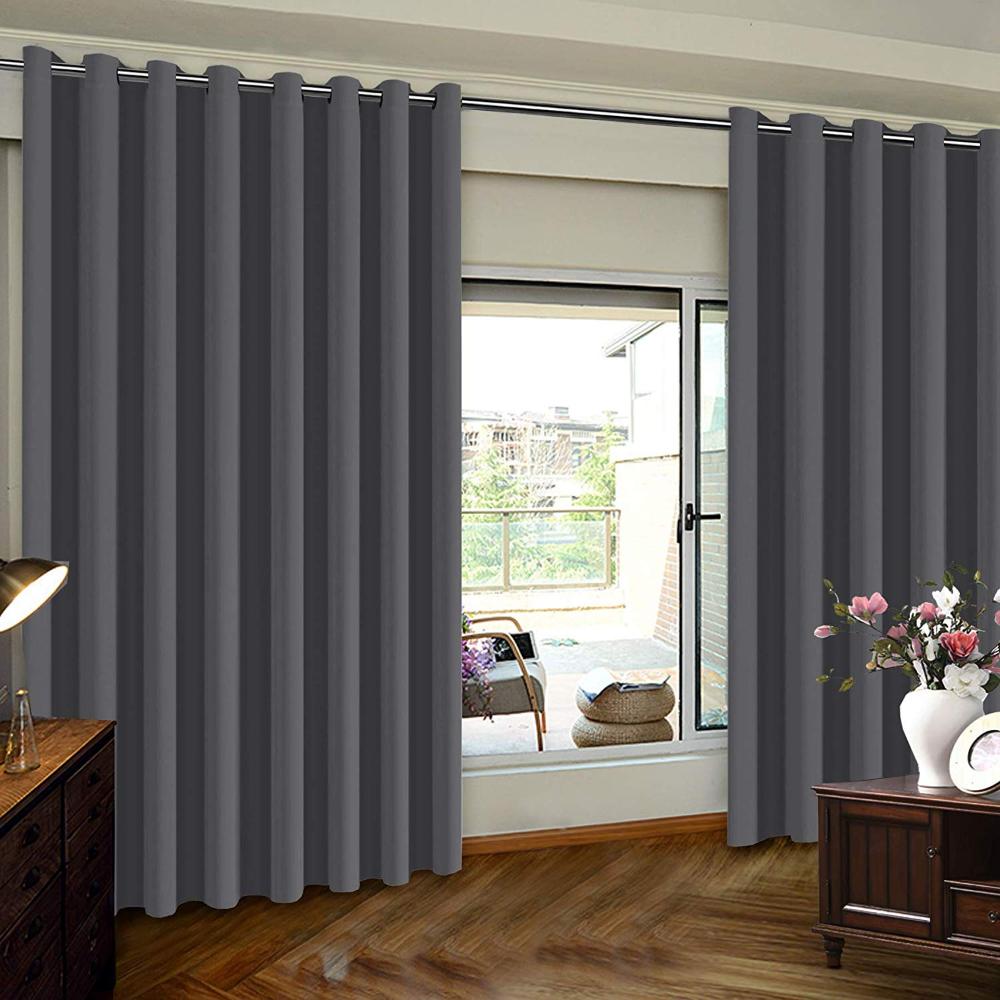Amazon Com Thermal Insulated Door Blinds White Patio Door Curtain Extra Wide Premi Patio Door Slider Sliding Glass Door Curtains Insulated Blackout Curtains Insulated curtains for sliding glass doors