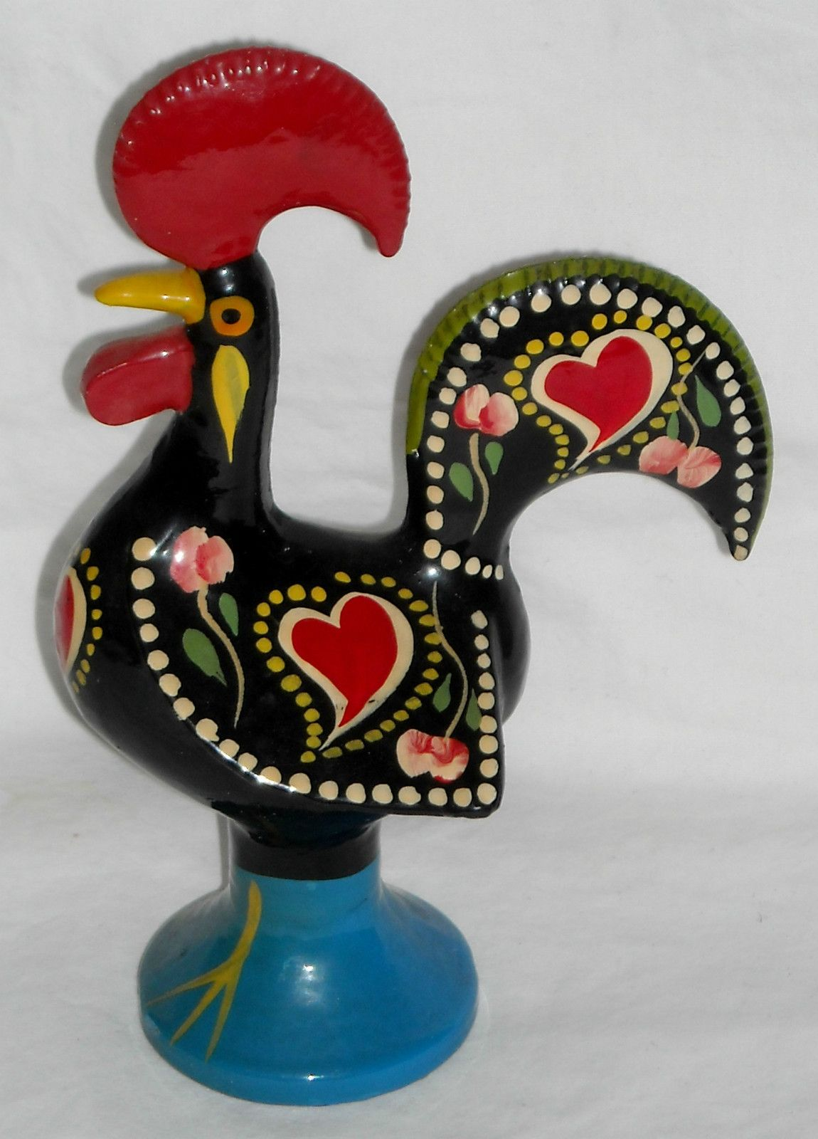 Ordinaire Portugese Good Luck Metal Rooster Figurine