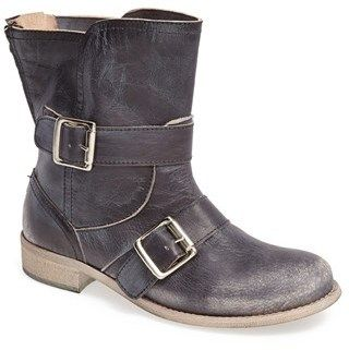 $231, Black Leather Boots: Cordani Pavlos Leather Boot. Sold by Nordstrom. Click for more info: https://lookastic.com/women/shop_items/74347/redirect