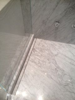 Houzz Modern Showers With Slab Walls   RE: Marble Slabs On Shower Walls U0026  Floors?