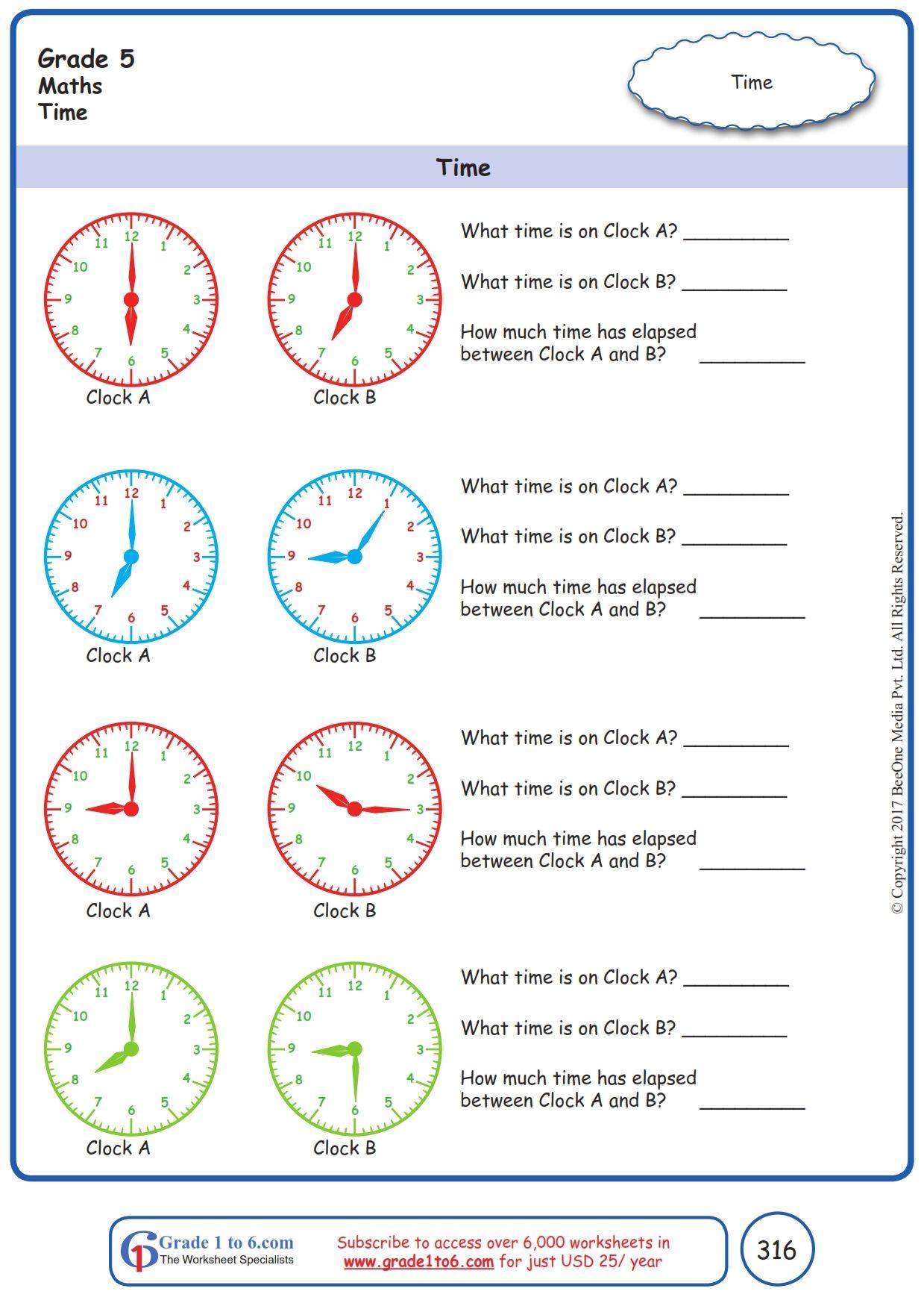 hight resolution of Worksheet Grade 5 Math Time in 2021   Kindergarten worksheets