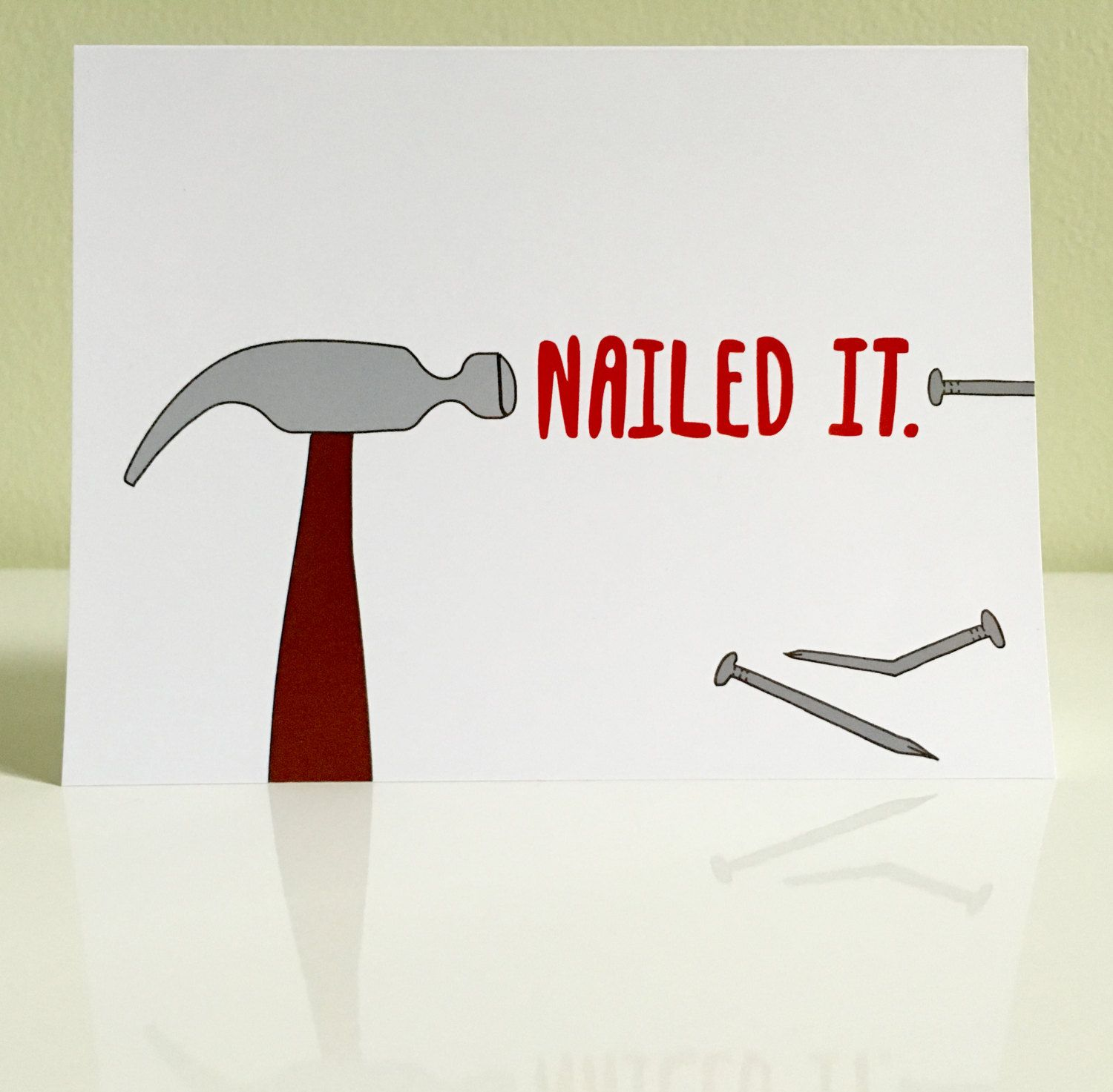 Greeting Card: Nailed It congratulations greeting card for ...