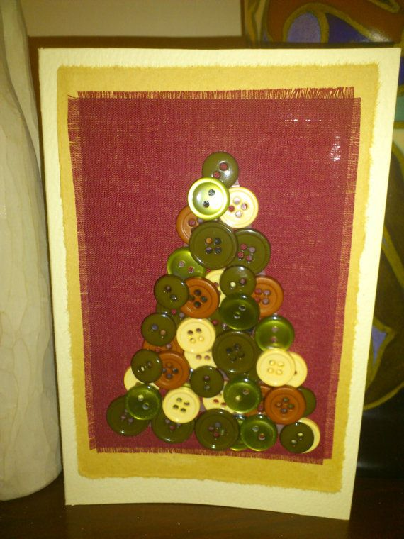 Christmas tree buttons by VeeBeeCrafts on Etsy, £2.60