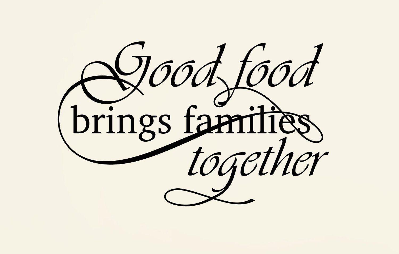Amazon.com: Good Food Brings Families Together Vinyl Indoor/outdoor ...