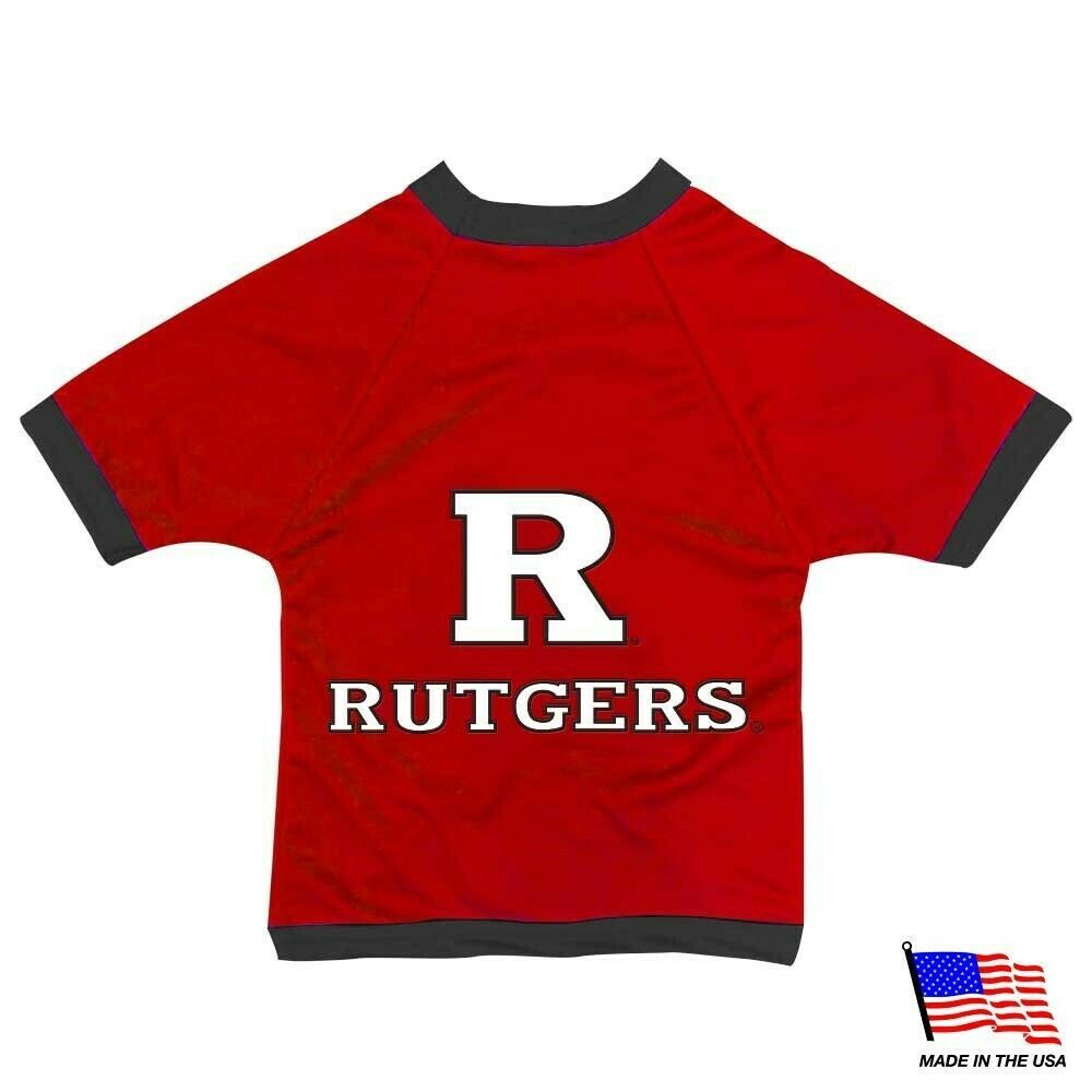NCAA Rutgers Scarlet Knights Athletic Mesh Dog Jersey