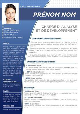 modele cv bleu Modèle de CV Batur Bleu | cv | Pinterest | Plantilla cv, Diseño de  modele cv bleu