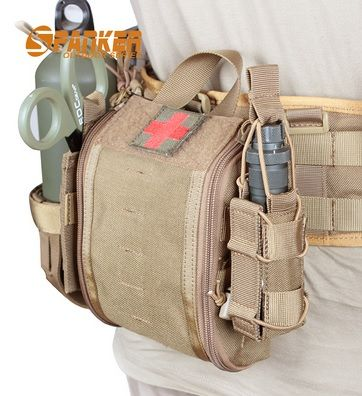 Spanker Military First Aid Kit Camping First Aid Kit Molle Backpack Tactical Gear