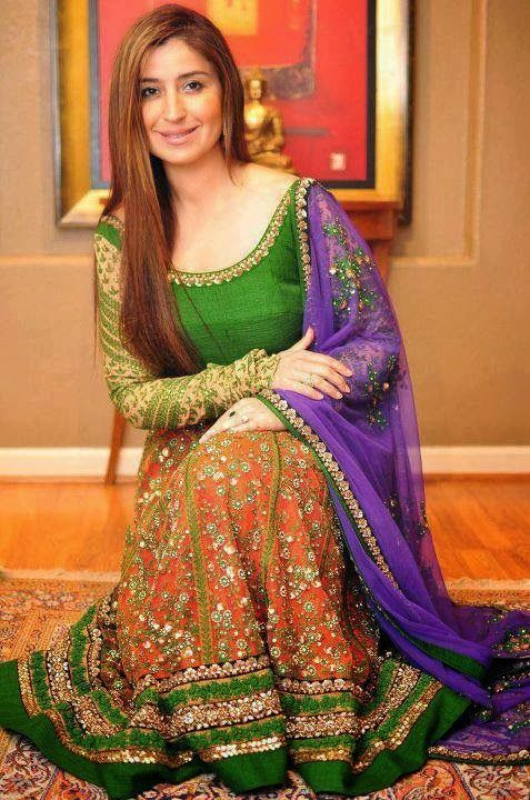 Mehndi Clothes Design : Bridal mehndi dresses collection pakistani fashion