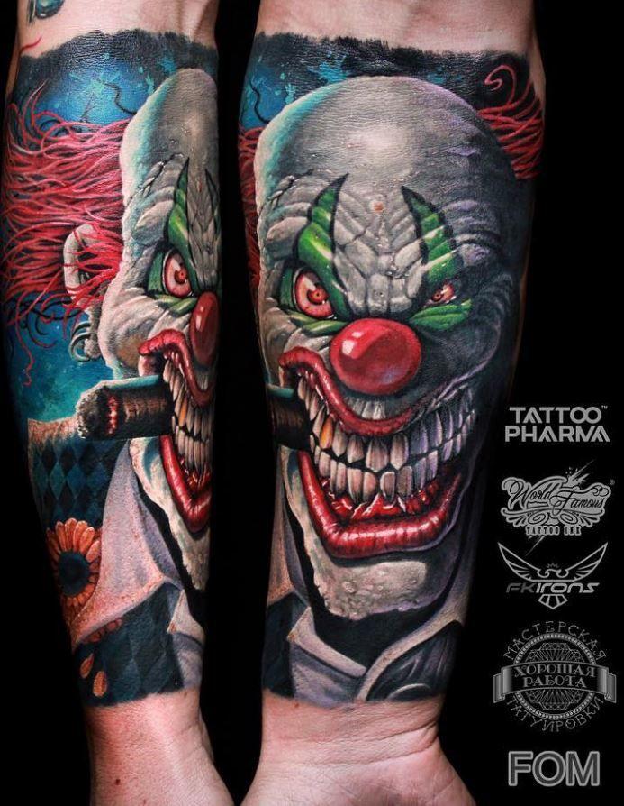 scary clown tattoo tattoos pinterest clown tattoo