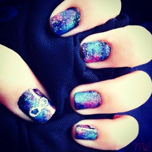 Cute Galaxy An Infinity Nails