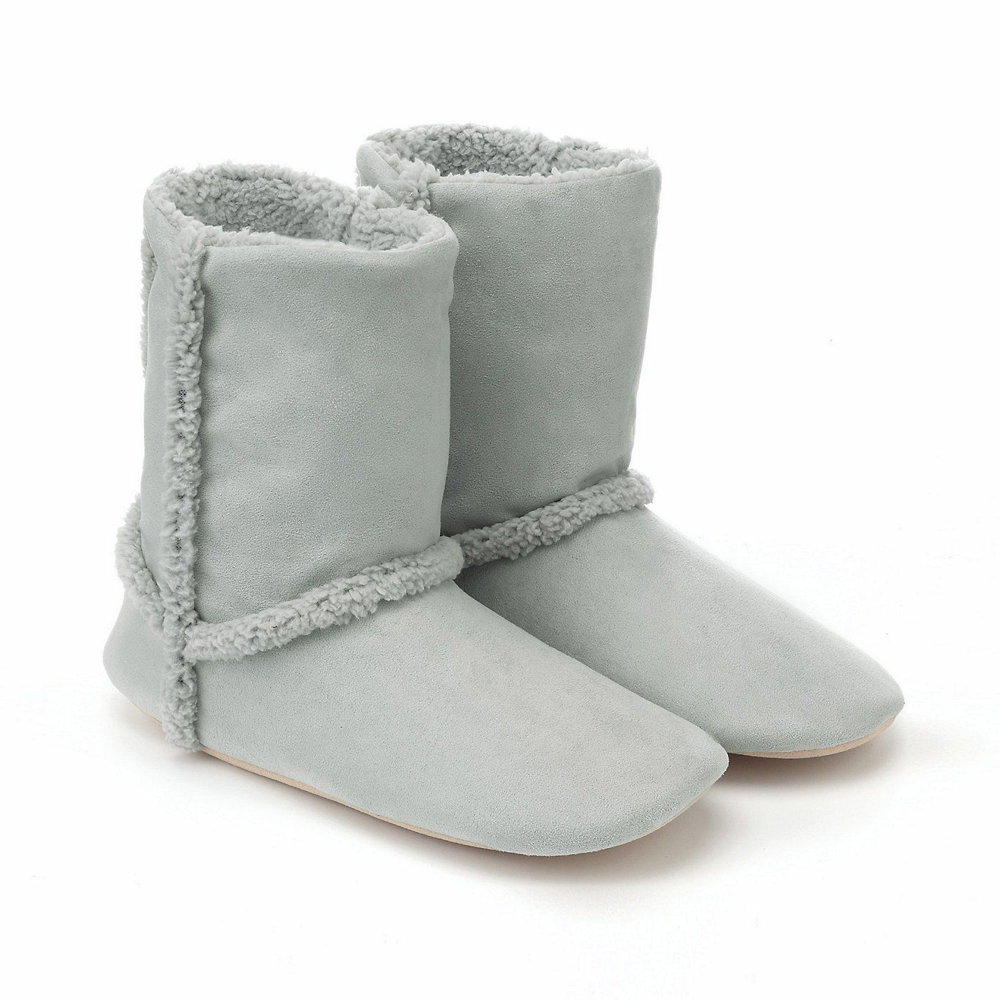 Spring Inuit Slippers - Pale Grey | The White Company