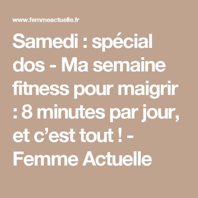 Samedi   spécial dos - Ma semaine fitness pour maigrir   8 minutes par jour, fdb34c746f7a