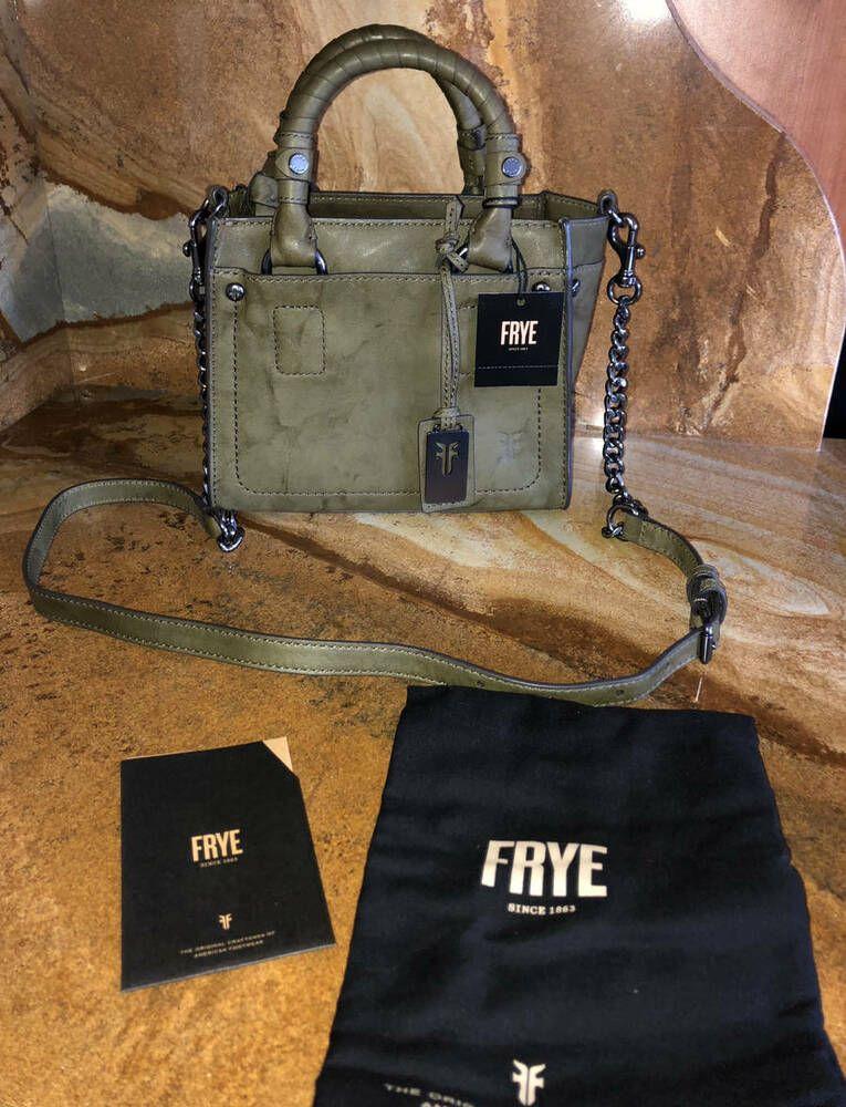 bc390f045 New~NWT~Frye Leather Demi Mini Satchel~Olive | Designer Women's ...
