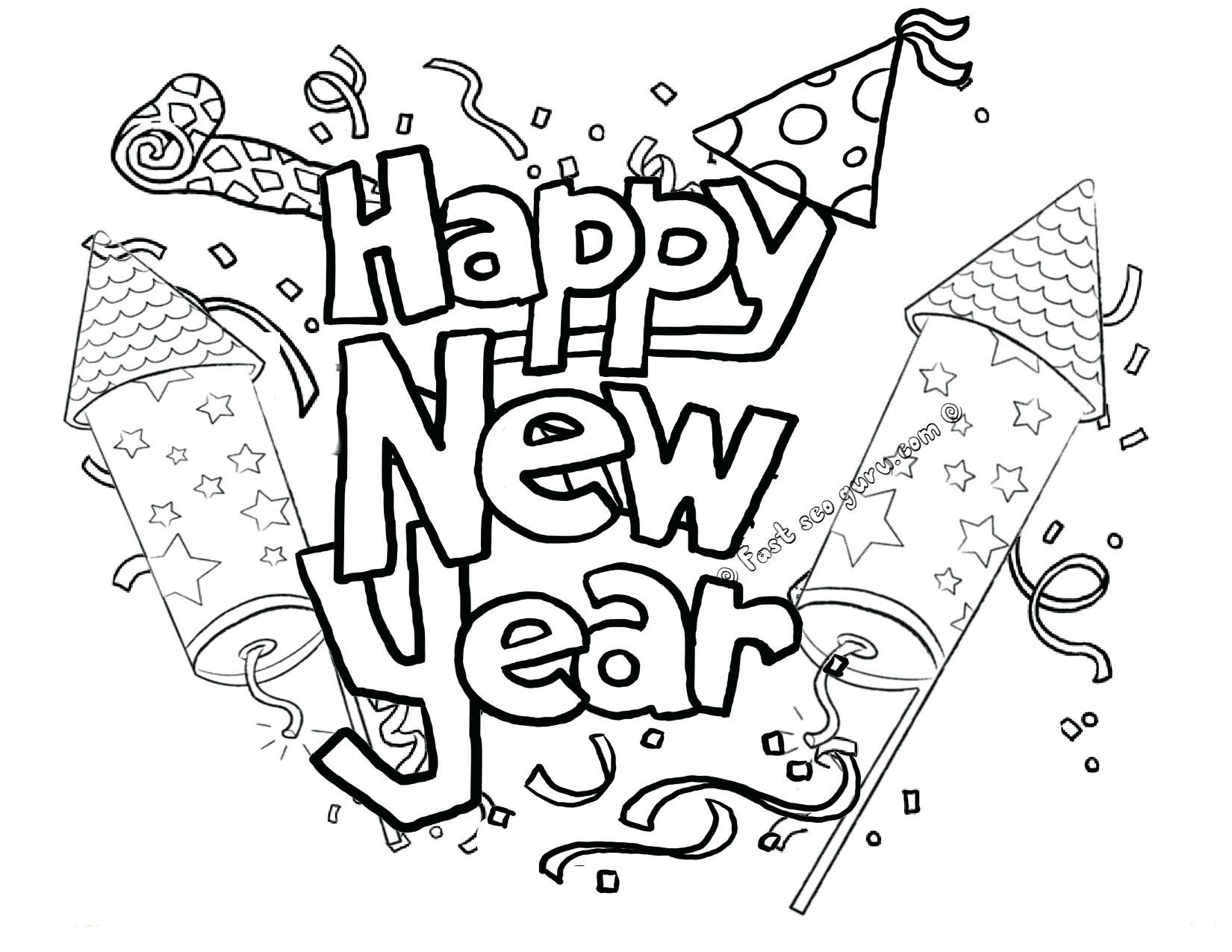 Coloring Free Printable New Years Coloring Pages For Kids Withi